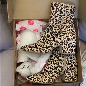 Matisse Calf Hair Leopard Booties